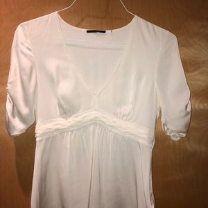Elie Tahari silk blouse, cream.